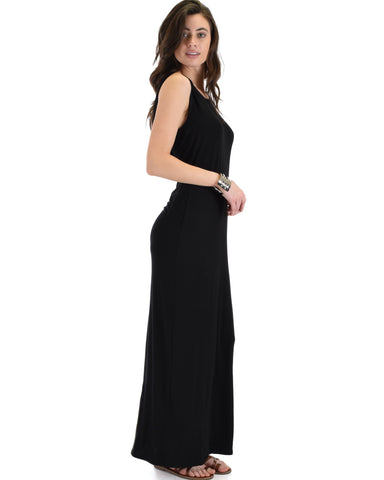 Lyss Loo Ascension Contemporary Black Hooded Maxi Dress - Clothing Showroom