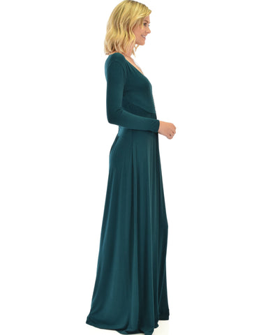 Lyss Loo Sweetest Kiss Long Sleeve Green Maxi Dress - Clothing Showroom