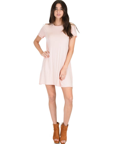 Lyss Loo Reporting For Cutie Pink T-Shirt Tunic Dress - Clothing Showroom