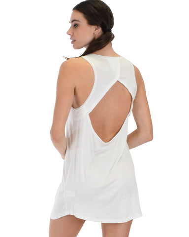 Lyss Loo All Yours Open Back Ivory Sleep Shirt - Clothing Showroom