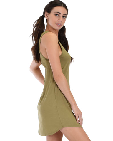 Lyss Loo All Yours Open Back Olive Sleep Shirt - Clothing Showroom