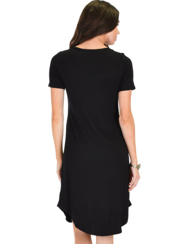 Lyss Loo Truly Madly Deep-V Neck Black Sleep Dress - Clothing Showroom