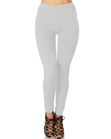 LL548 Comfy and Cozy Ivory Winter Fleece Leggings 6 - Clothing Showroom