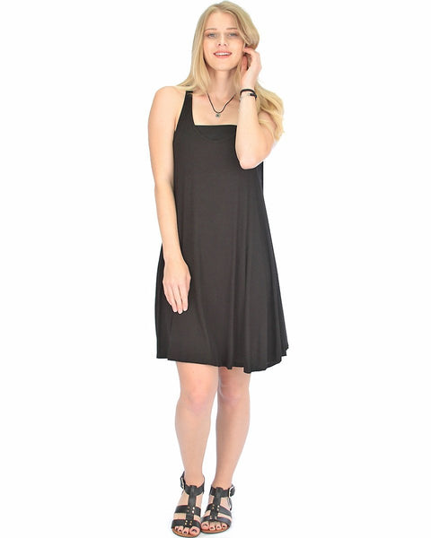 Lyss Loo Oversized Black Tank Dress - Clothing Showroom