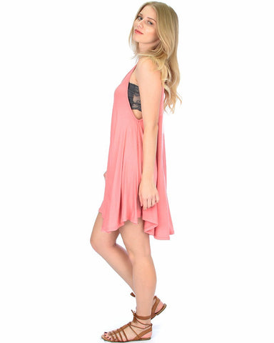 Lyss Loo Oversized Pink Tank Dress - Clothing Showroom