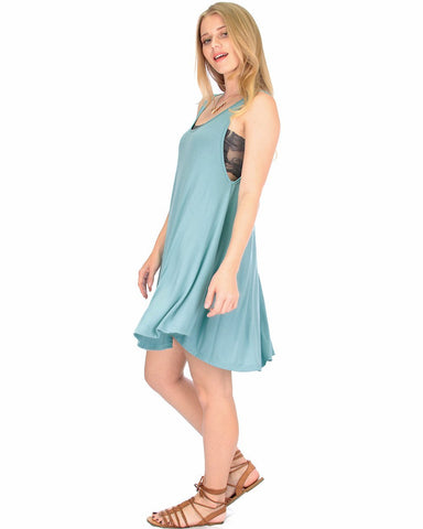 Lyss Loo Oversized Blue Tank Dress - Clothing Showroom
