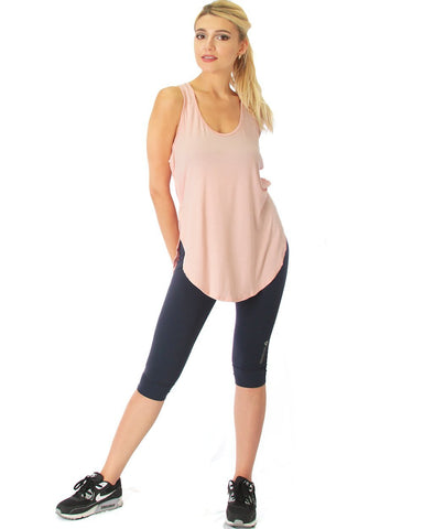 Lyss Loo When the Wind Blows Racer-Back Pink Tank Top - Clothing Showroom