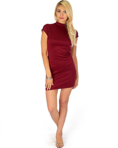 Lyss Loo Show Off Burgundy Bodycon Dress - Clothing Showroom