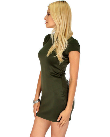 Lyss Loo Show Off Olive Bodycon Dress - Clothing Showroom