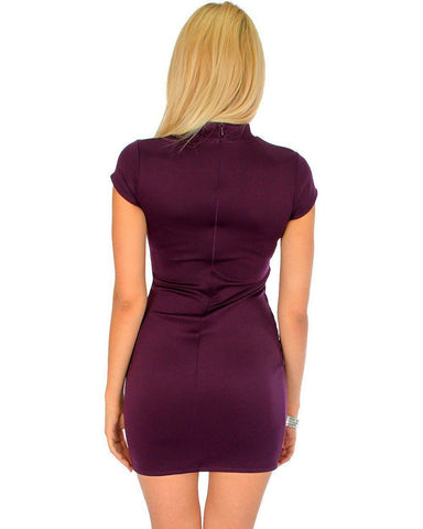Lyss Loo Show Off Purple Bodycon Dress - Clothing Showroom