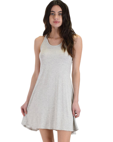 MD72161 Strap Me Up Grey Swing Dress 2-2-2 - Clothing Showroom
