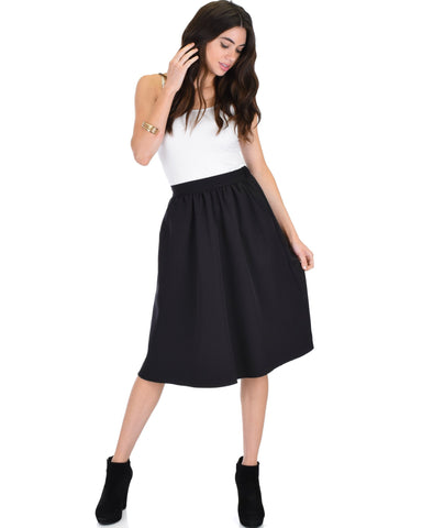 Lyss Loo Dance Montage A-Line Pocket Black Skirt - Clothing Showroom