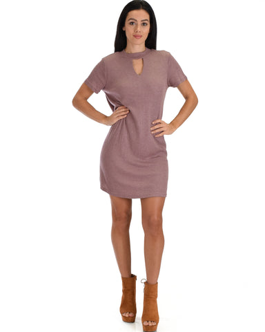 SL3955 Red Half Sleeve A-Line Dress With High Neck 2-2-2 - Clothing Showroom