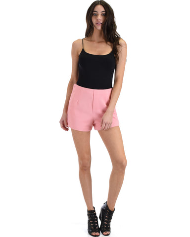 SL4210 Coral Woven Short Pant With Zipper 2-2-2 - Clothing Showroom