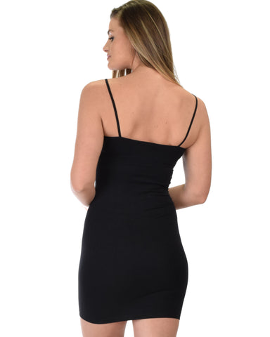 601 Super Duper Stretch Black Camisole Tank Dress