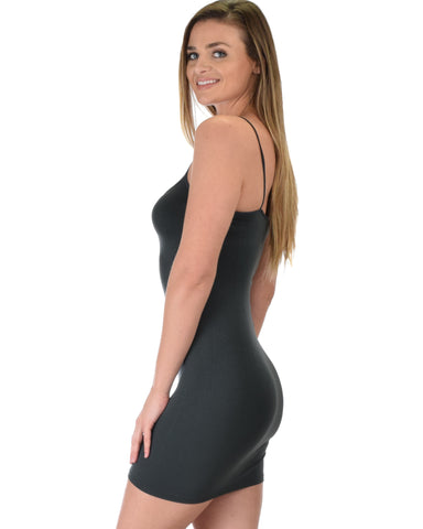 601 Super Duper Stretch Charcoal Camisole Tank Dress
