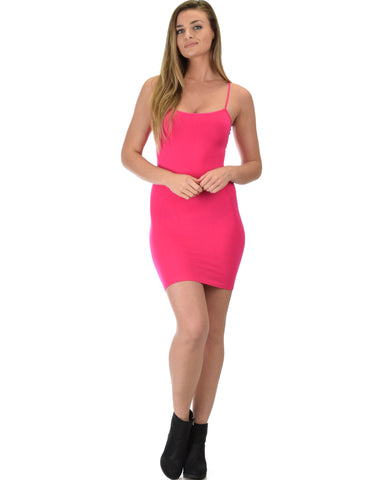 601 Super Duper Stretch Fuschia Camisole Tank Dress