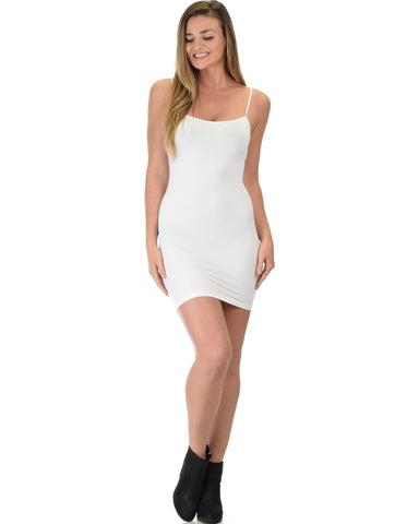 601 Super Duper Stretch White Camisole Tank Dress