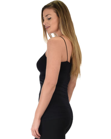 602 Super Duper Stretch Black Camisole Tank Top