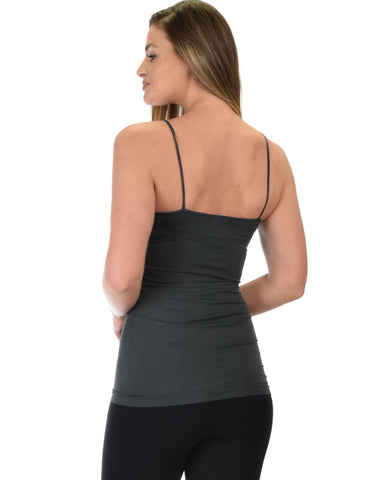 602 Super Duper Stretch Charcoal Camisole Tank Top