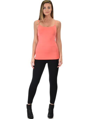 602 Super Duper Stretch Coral Camisole Tank Top