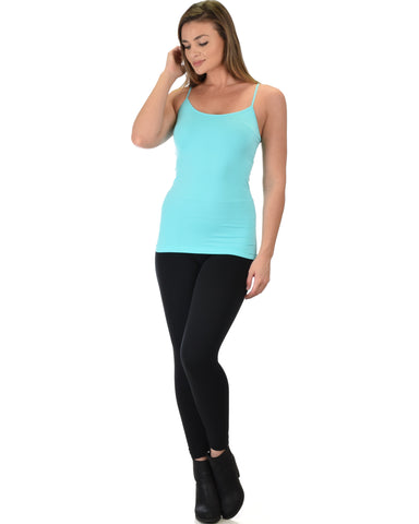 602 Super Duper Stretch Mint Camisole Tank Top