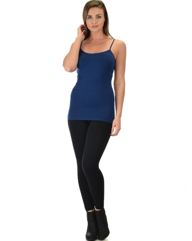 602 Super Duper Stretch Navy Camisole Tank Top