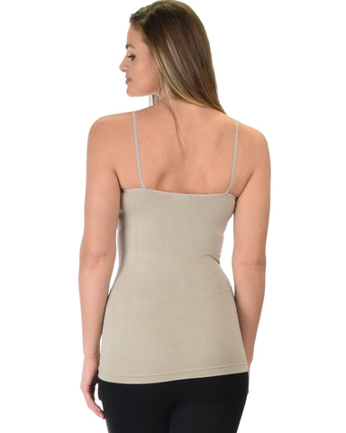 602 Super Duper Stretch Beige Camisole Tank Top