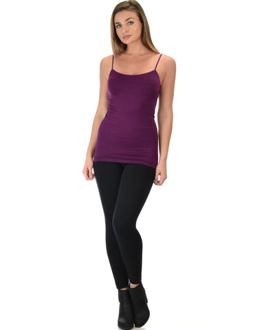 602 Super Duper Stretch Purple Camisole Tank Top