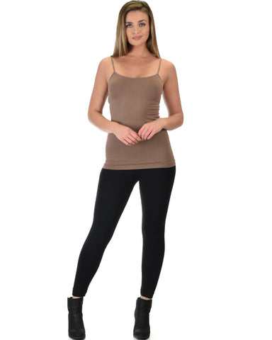 602 Super Duper Stretch Brown Camisole Tank Top