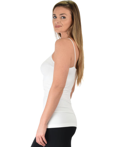 602 Super Duper Stretch White Camisole Tank Top