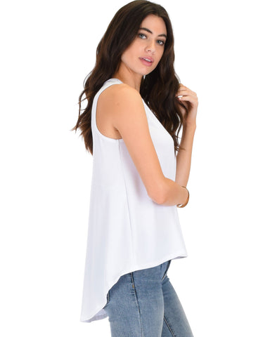Lyss Loo My First Crush Ribbed Ivory Top With Keyhole Back - Clothing Showroom