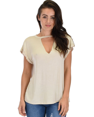 Unfiltered Raw Edge V-neck Tunic Top