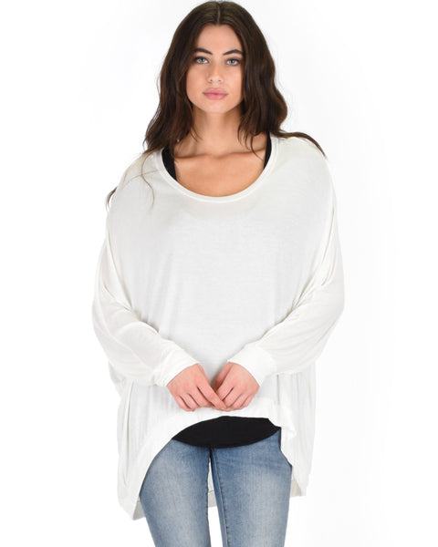 Lyss Loo Light Weight Camille Spring Ivory Sweater Top - Clothing Showroom