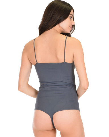 T2530 Onesie Thong Charcoal Body Suit 6 - Clothing Showroom