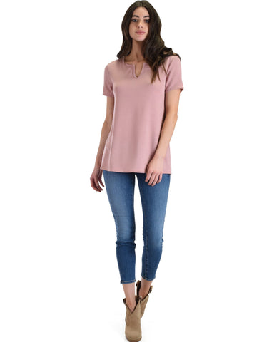 Lyss Loo Best Basic Mauve Tee - Clothing Showroom