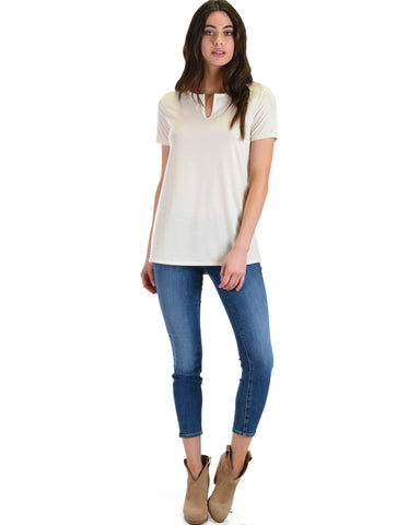 Lyss Loo Best Basic White Tee - Clothing Showroom