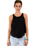 Lyss Loo Totally Crossed Out Black Tank Top - Clothing Showroom