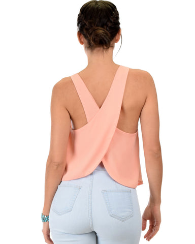 Lyss Loo Totally Crossed Out Pink Tank Top - Clothing Showroom