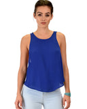 Lyss Loo Totally Crossed Out Royal Tank Top - Clothing Showroom