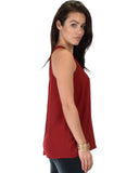 At First Crush Sleeveless Top With Keyhole Back