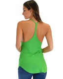 Lyss Loo Breezy Beauty Y-Back Green Tank Top - Clothing Showroom