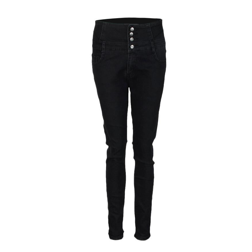 Fashion Women High Waisted Elasticity Jeans Skinny Jeggings Laies Pants Cowboy Pencil Pants