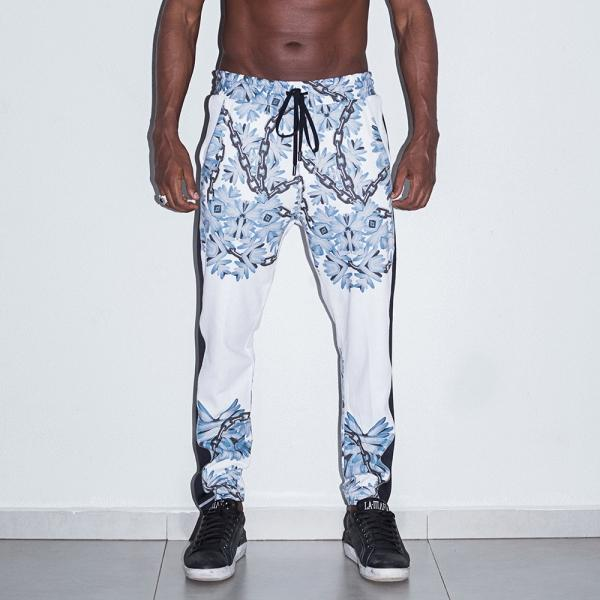 "Pants HCL12541 ""Calça Blue Chains"" - Labellamafia Shop - Fitness is Everywhere"