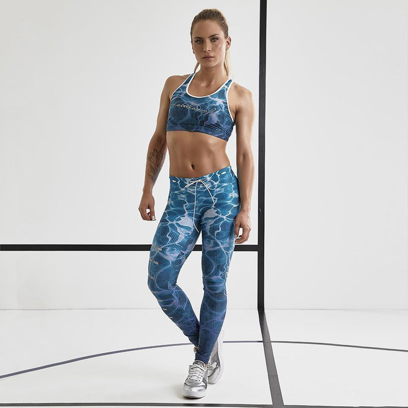 "Labellamafia Set ""Over Print Blue"" FCJ13325 - Labellamafia Shop - Fitness is Everywhere"