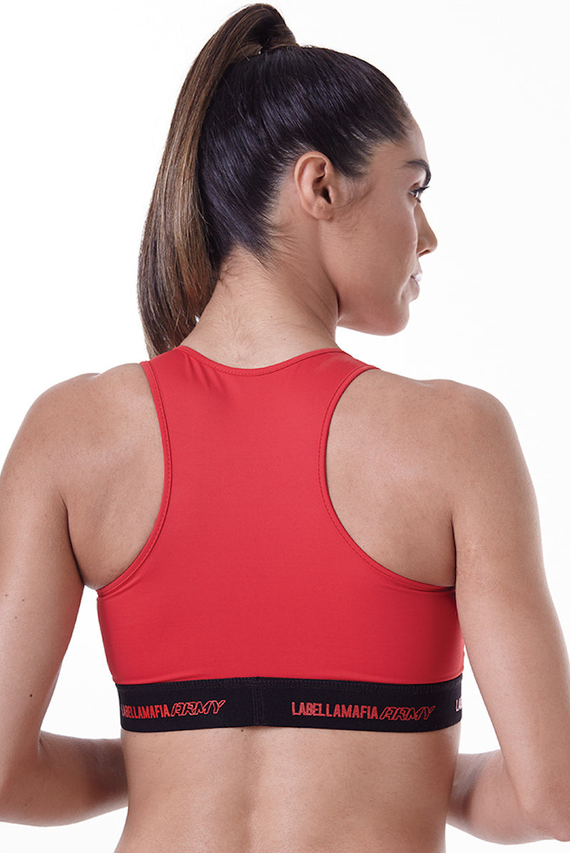 Top Labellamafia Army Red FTP13844 - Labellamafia Shop - Fitness is Everywhere