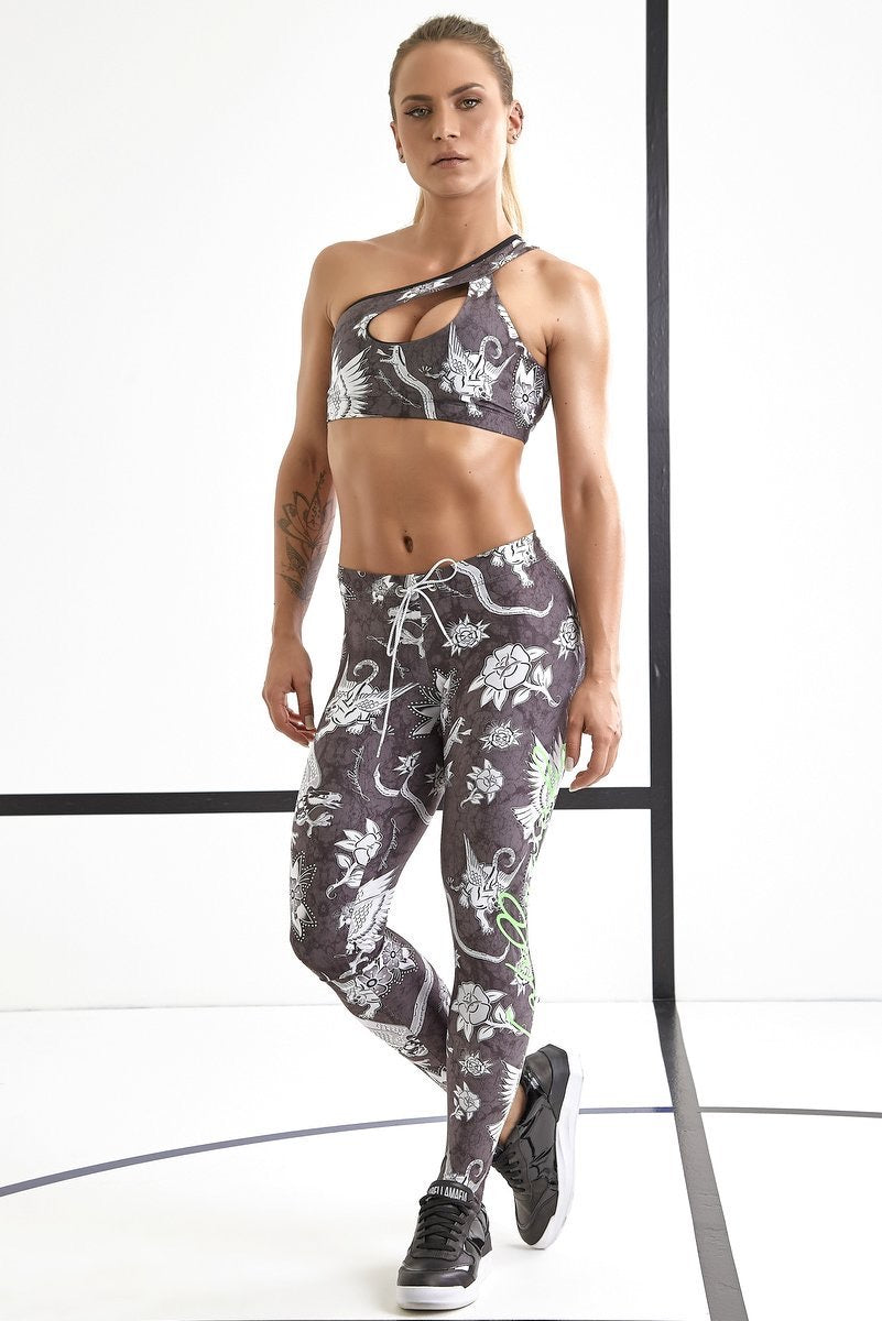 "Labellamafia Set ""Over Print Roses"" FCJ13293 - Labellamafia Shop - Fitness is Everywhere"