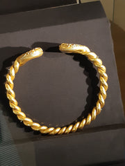 Iron age solid gold torq necklace