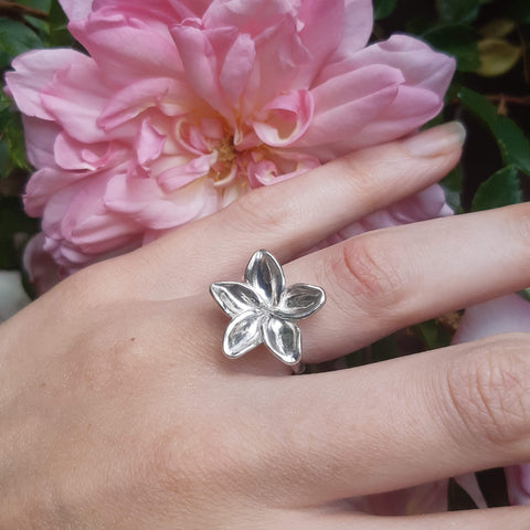 Eco silver handcrafted ring by Gemma Tremayne Jewellery