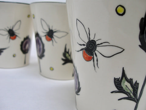Bee mugs by Louise Pettersson
